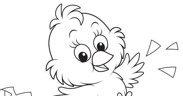Coloriage De Pâques : Le Petit Poussin Trop Mignon encequiconcerne Coloriage Poussin A Imprimer Gratuit