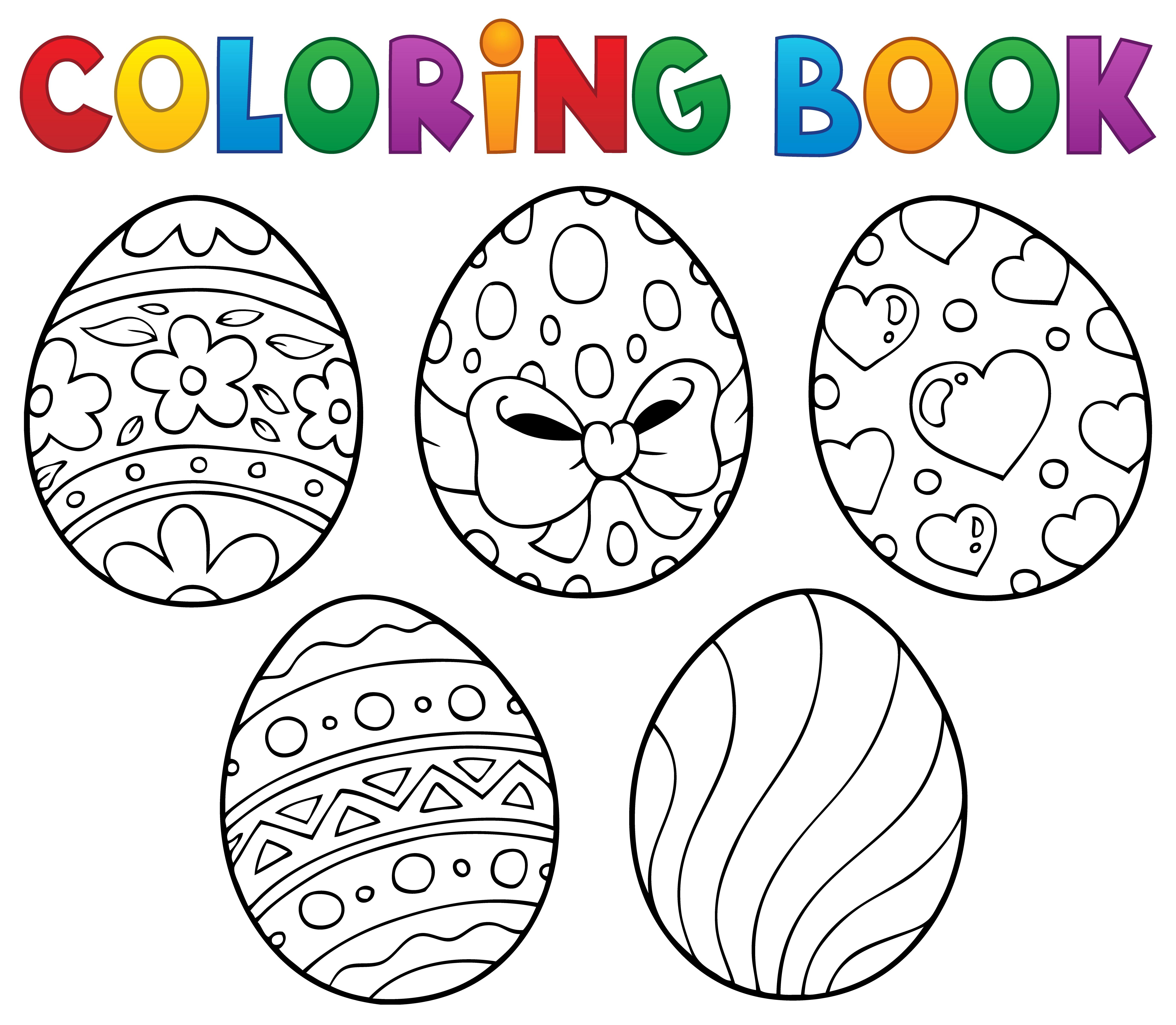 Coloriage De Pâques : Les (Gros) Six Œufs De La Poule concernant Oeufs De Paques Coloriage A Imprimer