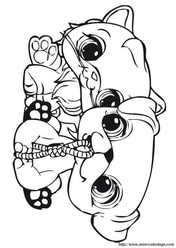 Coloriage De Petshop, Dessin Des Bons Amis Petshop À Colorier avec Coloriage Petshop À Imprimer