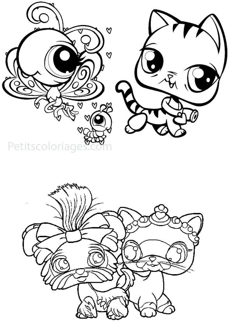 Coloriage De Petshop Pour Enfants - Coloriage Petshops dedans Dessin Petit Papillon