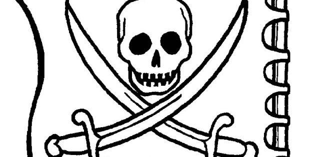 Coloriage De Pirate Élégant Collection Coloriage Pirate encequiconcerne Drapeau Pirate Coloriage
