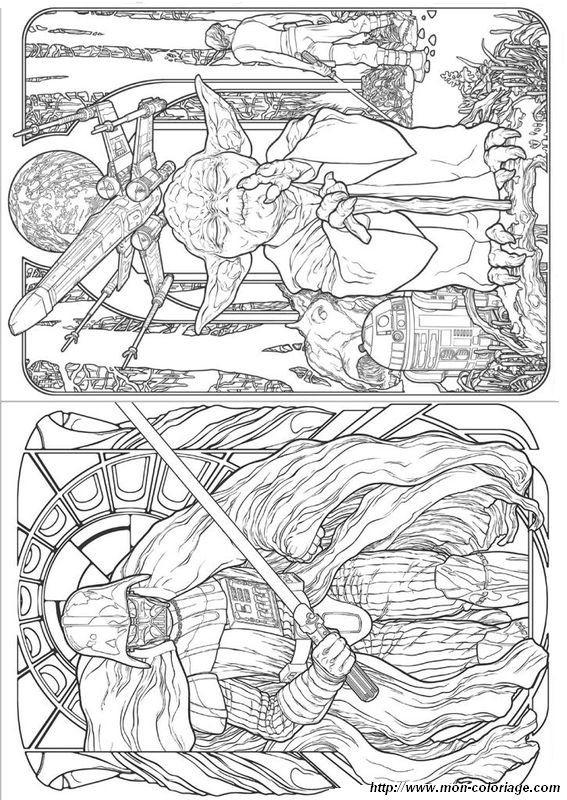 Coloriage De Pour Adultes, Dessin Star Wars Maitre Yoda Et à Maitre Yoda Dessin