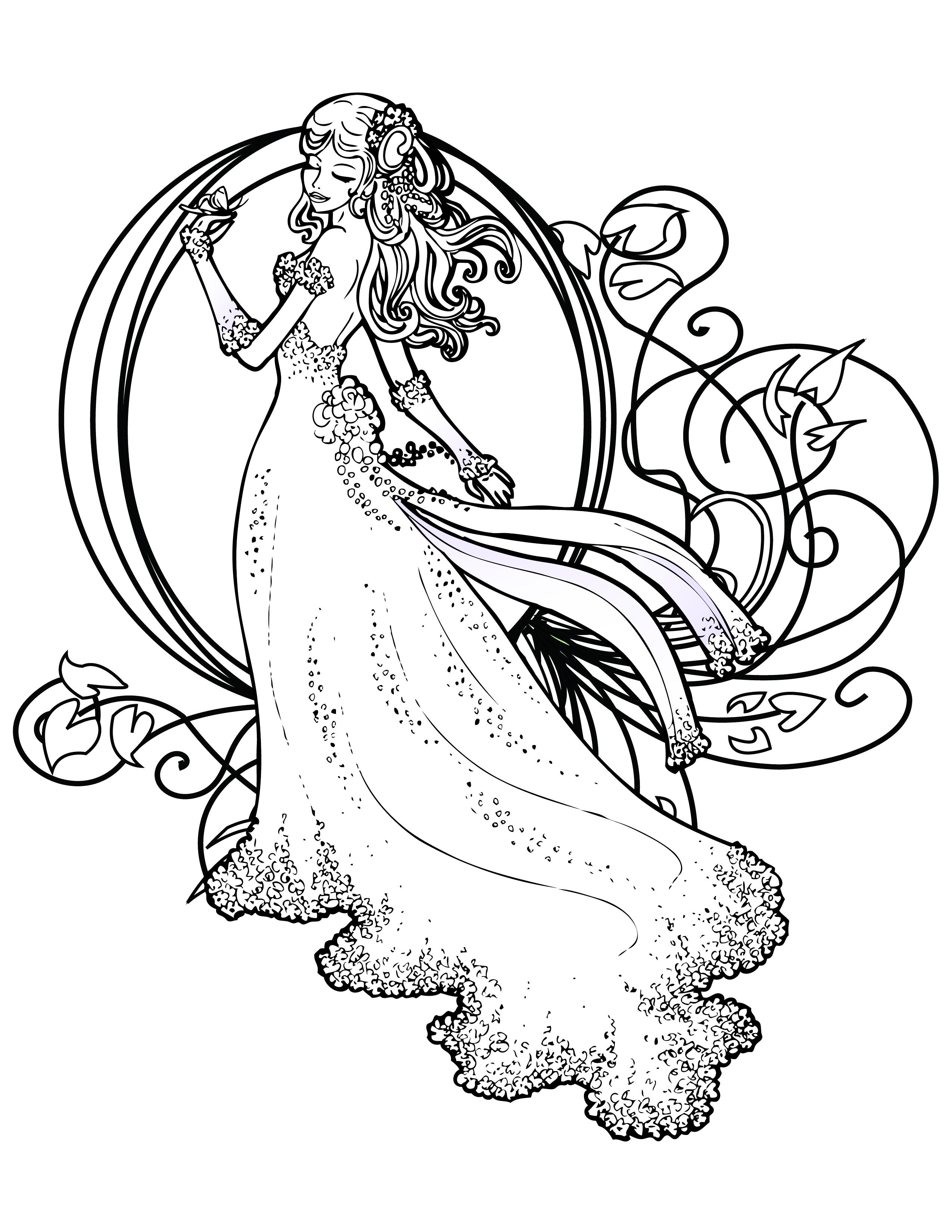 Coloriage De Princesse Disney Gratuit À Imprimer - Artherapie.ca avec Coloriage Mandala Disney À Imprimer Gratuit