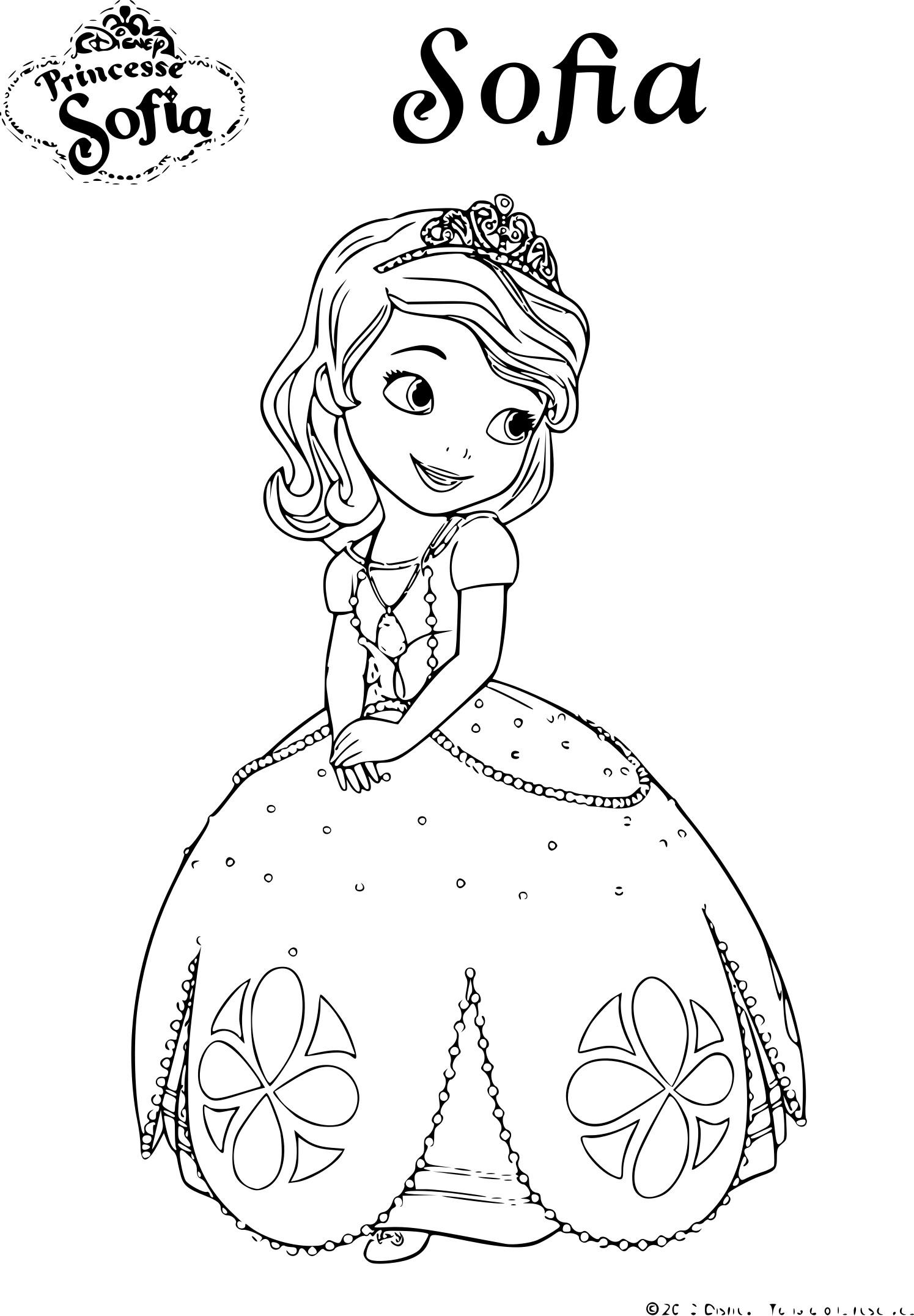 Coloriage De Princesse Sofia Disney À Imprimer Sur encequiconcerne Coloriage Princesse Sofia