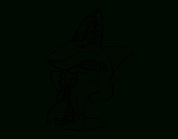 Coloriage De Requin Surfer Pour Colorier - Coloritou concernant Dessin Surfeur
