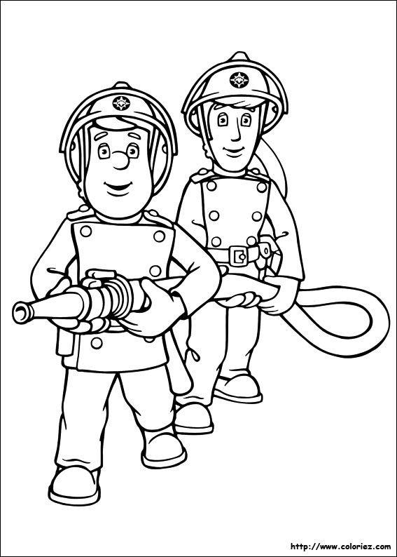 Coloriage De Sam Le Pompier Et La Lance À Incendie pour Jeux De Sam Le Pompier Gratuit