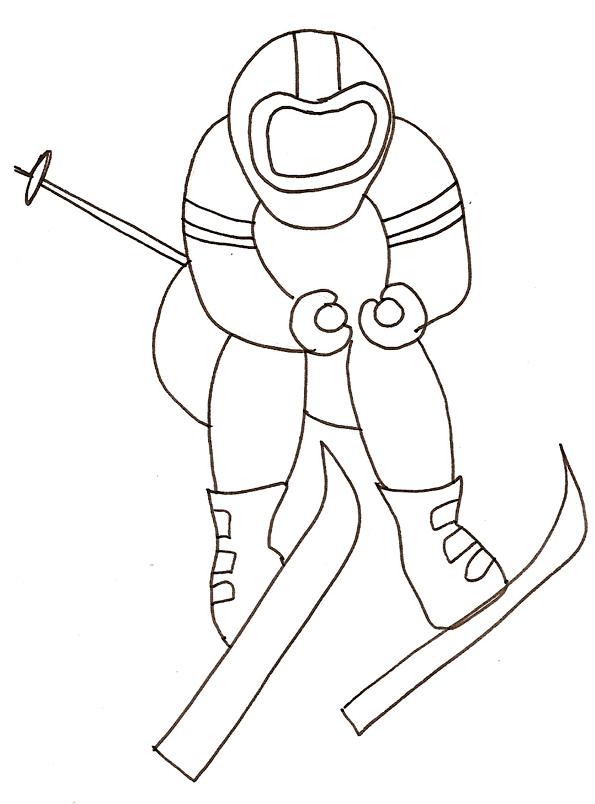 Coloriage De Ski Nautique dedans Dessin De Ski