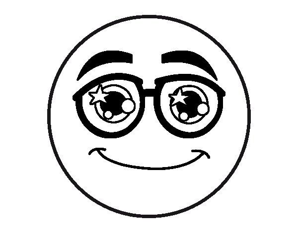 Coloriage De Smiley Avec Des Lunettes Pour Colorier avec Coloriage Smiley A Imprimer Gratuit