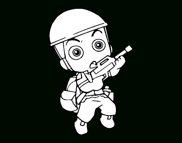 Coloriage De Soldat Militaire Pour Colorier - Coloritou dedans Coloriage Soldat