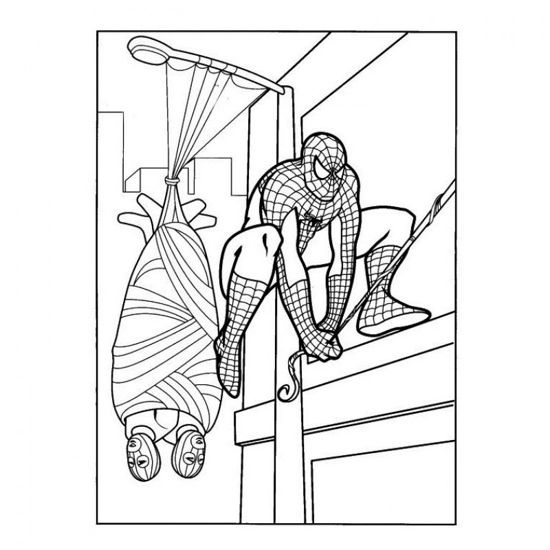 Coloriage De Spiderman #7 destiné Coloriage Spiderman