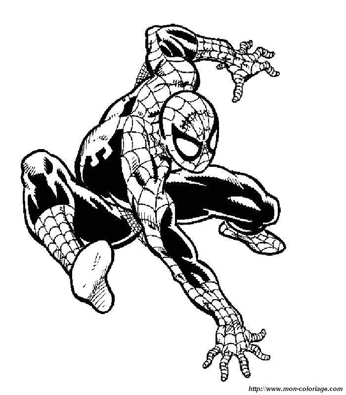 Coloriage De Spiderman, Dessin Spiderman 3 Le Film À Colorier dedans Coloriage De Spiderman Noir