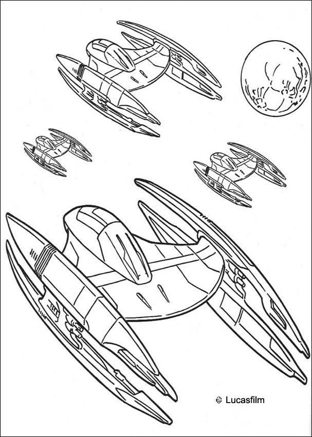 Coloriage De Star Wars Avec Des Vaisseaux Spatiaux Et Des tout Vaisseau Star Wars Coloriage