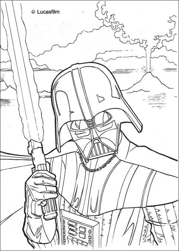 Coloriage De Star Wars De Dark Vador Et Son Épée Laser. Un encequiconcerne Coloriage Star Wars Dark Vador