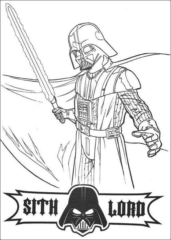 Coloriage De Star Wars, Dessin Le Sabre Laser De Dark encequiconcerne Coloriage Star Wars Dark Vador