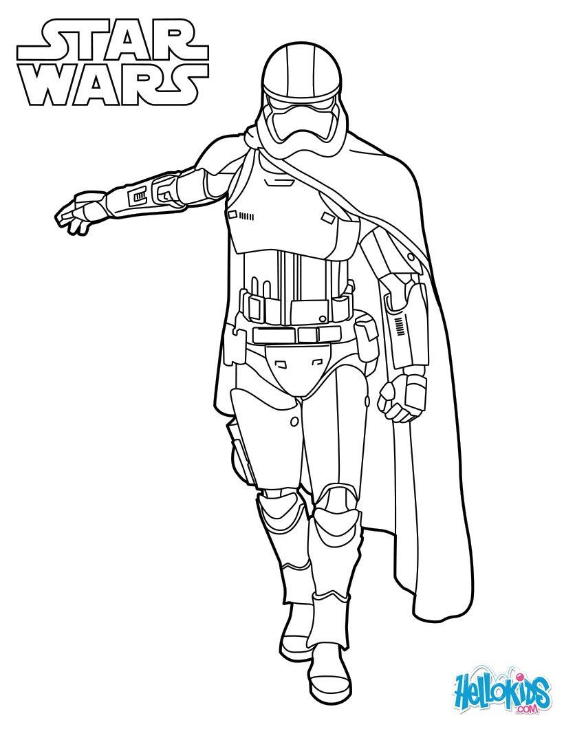 Coloriage De Star Wars Du Capitaine Phasma Dans Le Reveil destiné Star Wars Dessin A Colorier
