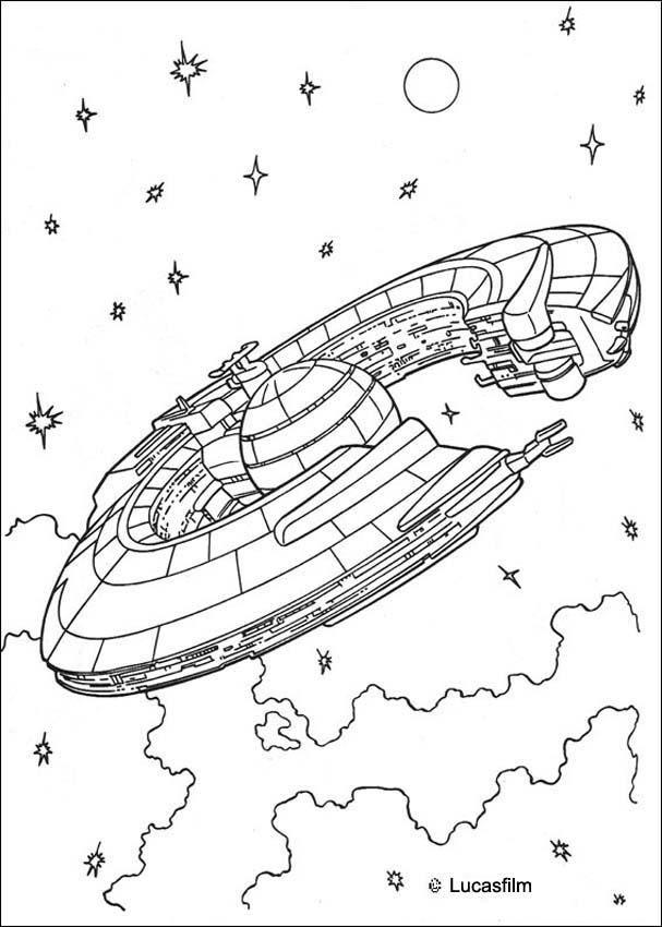 Coloriage De Star Wars Du Vaisseau Spatial De La pour Coloriage Vaisseau Spatial