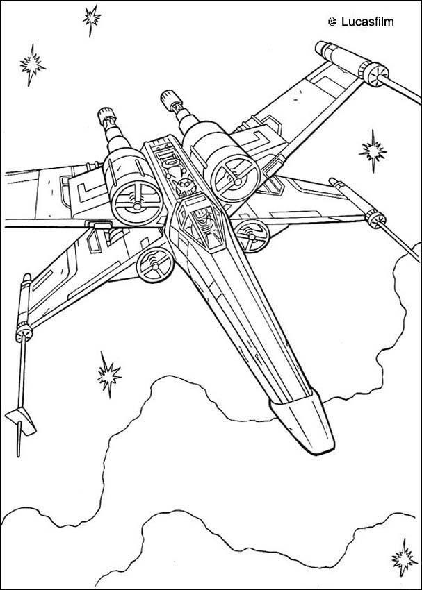 Coloriage De Star Wars Du Vaisseau Spatial De Luke dedans Coloriage Vaisseau Spatial