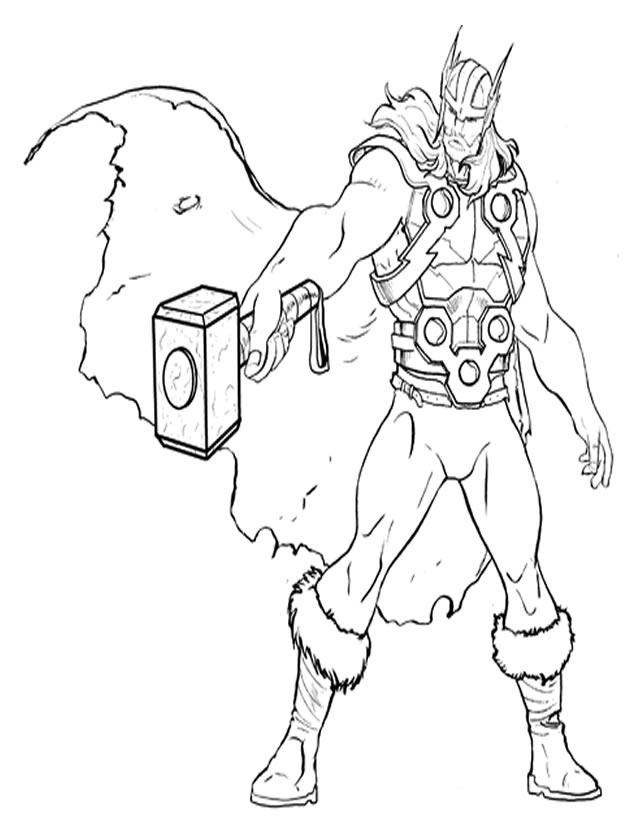 Coloriage De Thor encequiconcerne Coloriage Hulk A Imprimer Gratuit