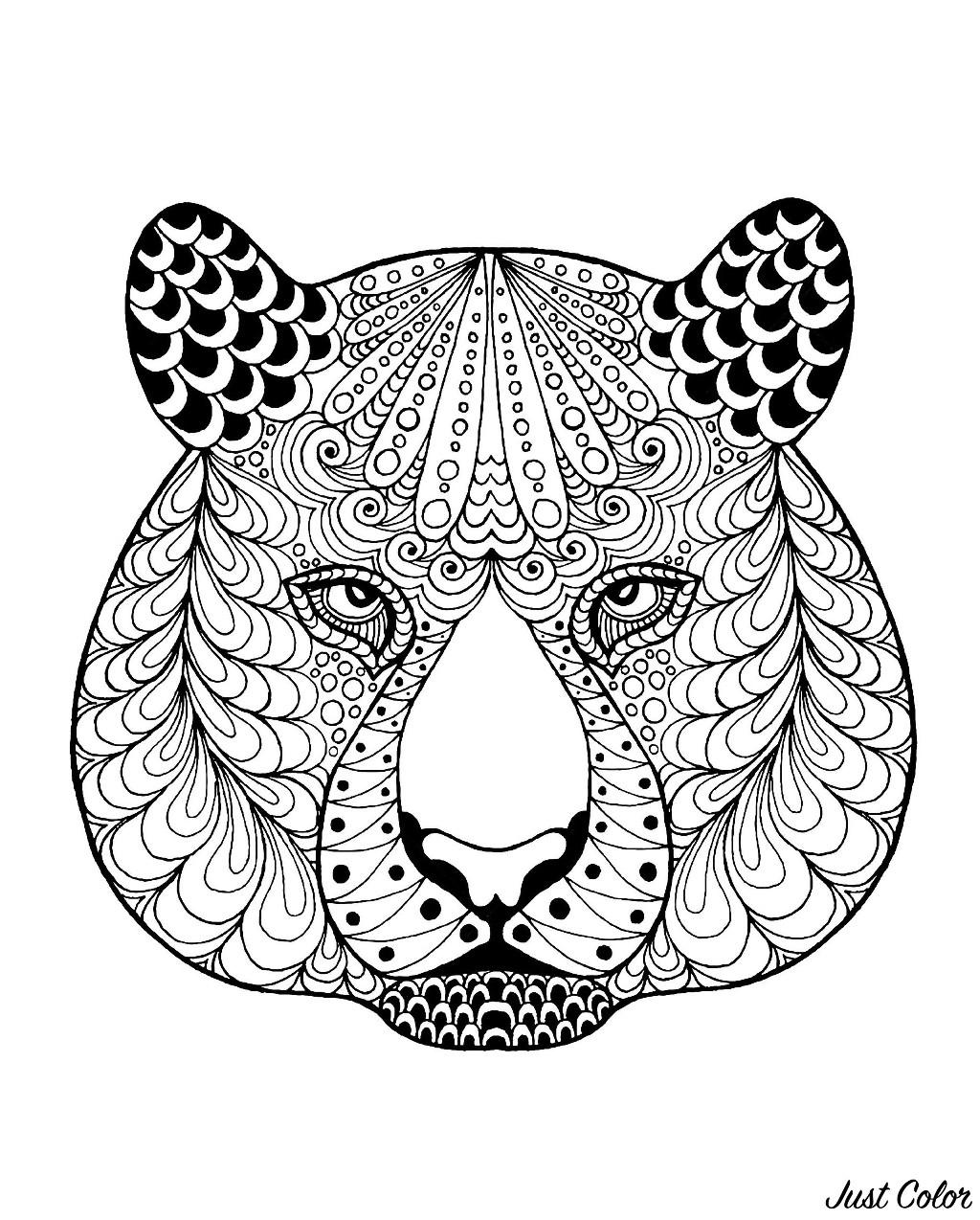Coloriage De Tigre À Telecharger Gratuitement - Coloriage pour Coloriage À Peindre À Imprimer