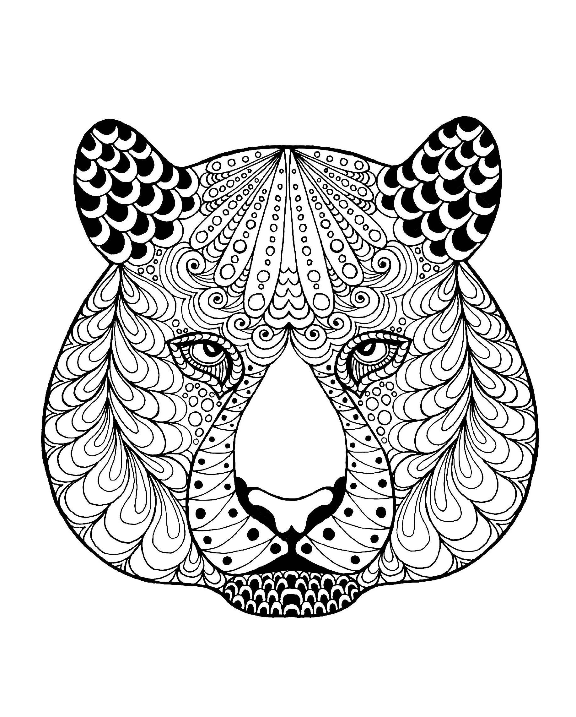 Coloriage De Tigre À Telecharger Gratuitement - Coloriage tout Mandalas De Tigres