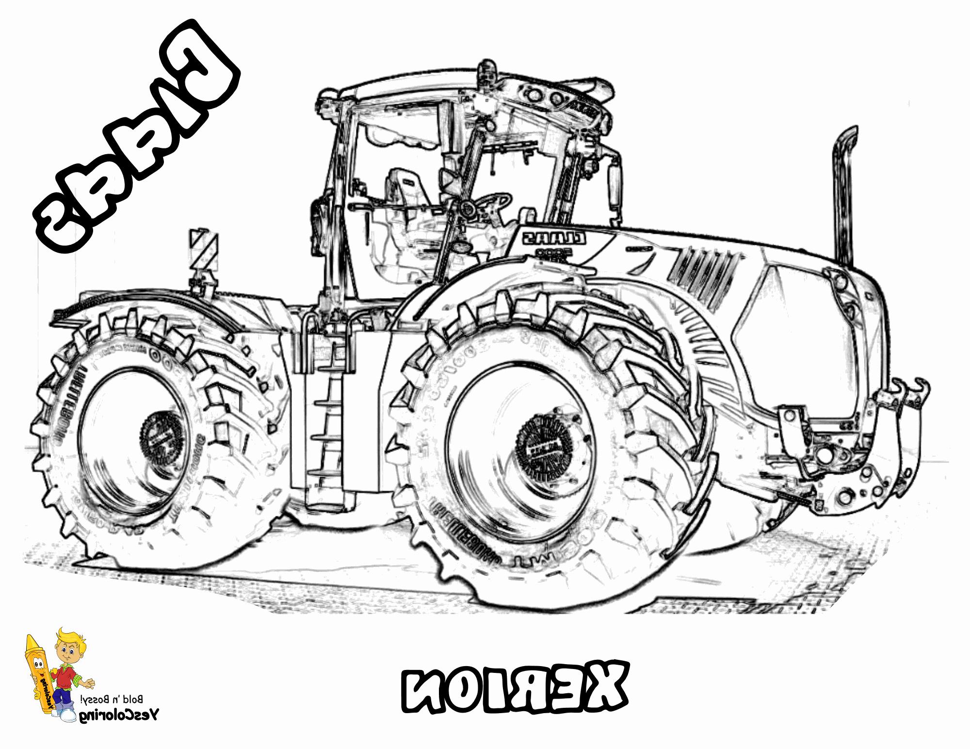 Coloriage De Tracteur Claas | Coloriage Kids à Coloriage Tracteur