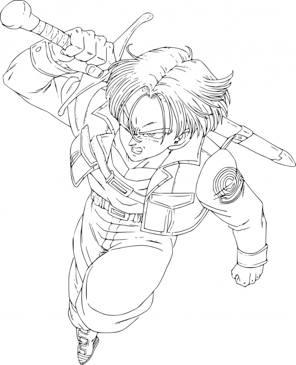 Coloriage De Trunks À Imprimer Sur Coloriage De destiné Coloriage Trunks Du Futur