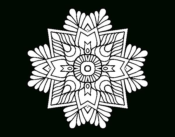 Coloriage De Un Mandala De Mosaïque Pour Colorier encequiconcerne Dessin Mosaique A Imprimer