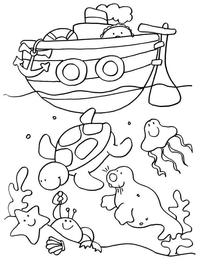 Coloriage De Vacances À La Mer Gratuit À Colorier concernant Coloriage Vacances A Imprimer Gratuit