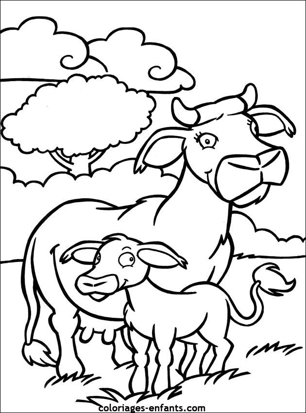 Coloriage De Vaches Sur Coloriages-Enfants serapportantà Coloriage D Animaux De Vache