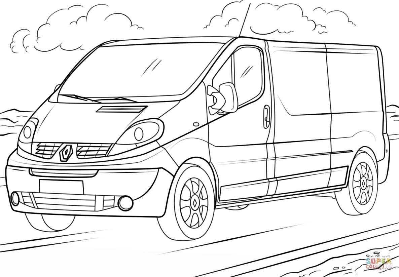 Coloriage De Voiture Renault | Renault Trafic, Renault pour Coloriage Camion A Imprimer