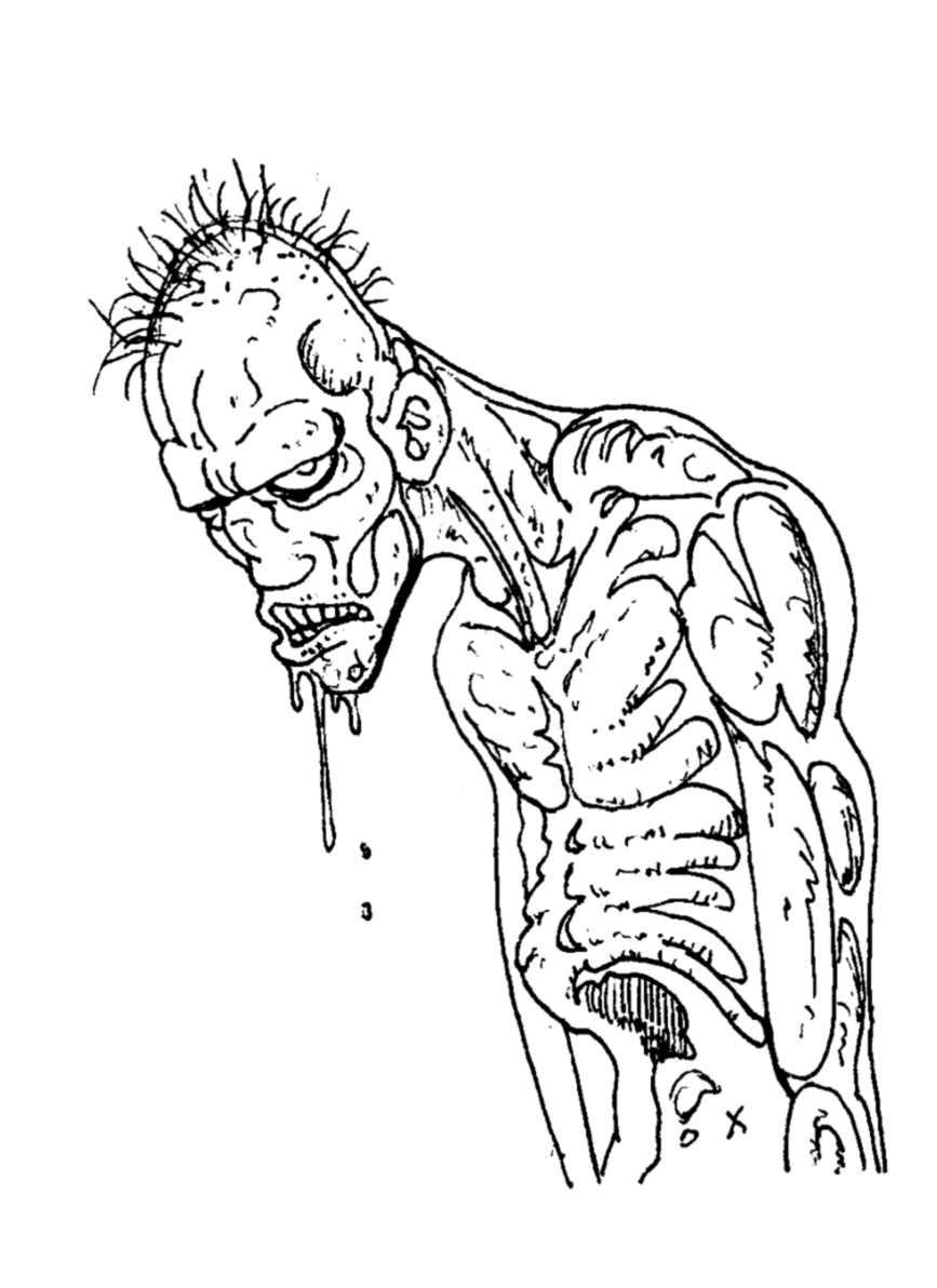Coloriage De Zombie À Imprimer - Coloriage De Zombies avec Zombie Qui Fait Peur