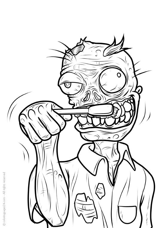 Coloriage De Zombie Qui Fait Peur – 123Coloriage à Zombie Qui Fait Peur