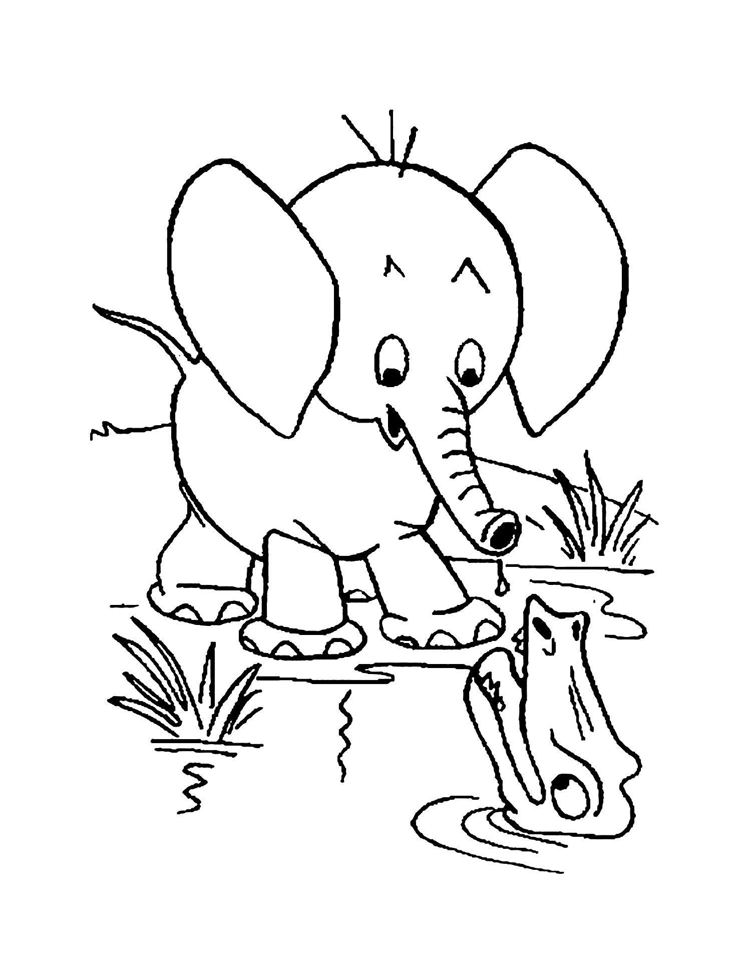 Coloriage D'Éléphant À Imprimer Gratuitement - Coloriage D destiné Dessin Pour Enfant