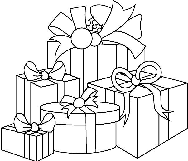 Coloriage Des Cadeaux De Noel À Découper concernant Coloriage Cadeau De Noel