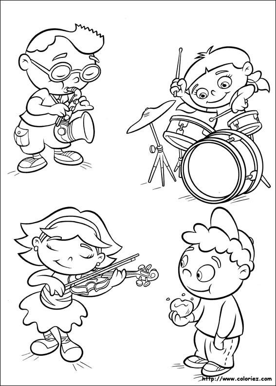 Coloriage Des Enfants Musiciens Dessin Gratuit À Imprimer concernant La Fete De La Musique Coloring Book
