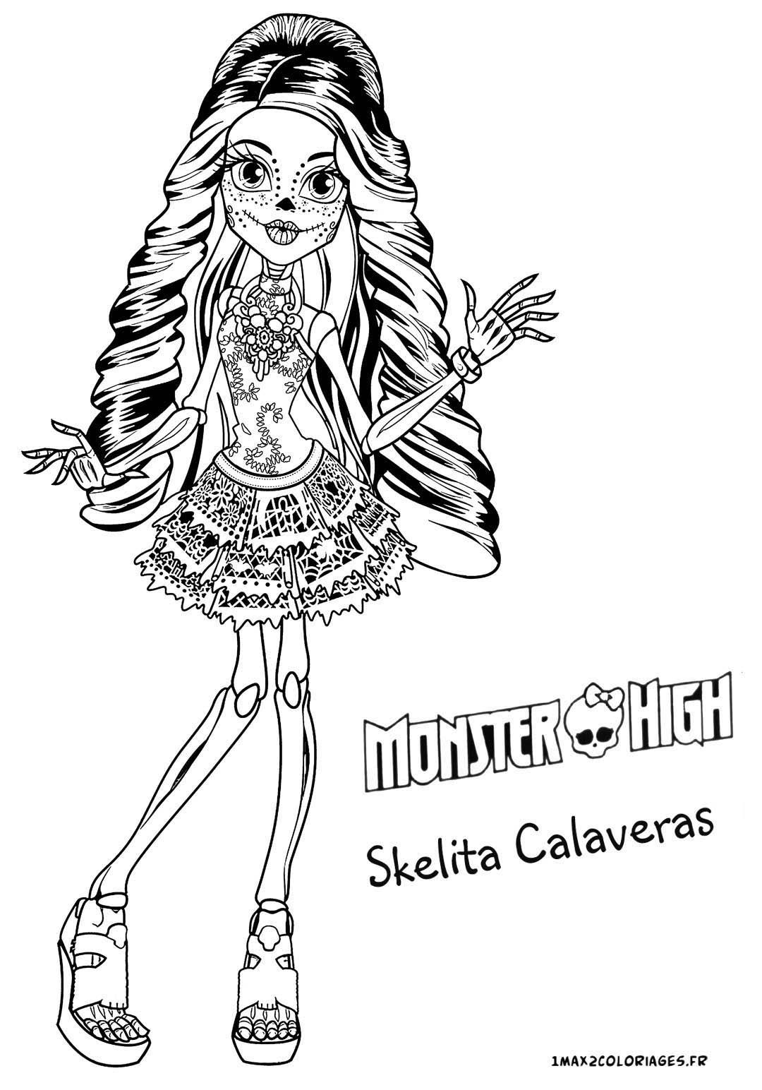 Coloriage Des Personnages De Monster High - Nouvelle pour Dessin A Imprimer Monster High