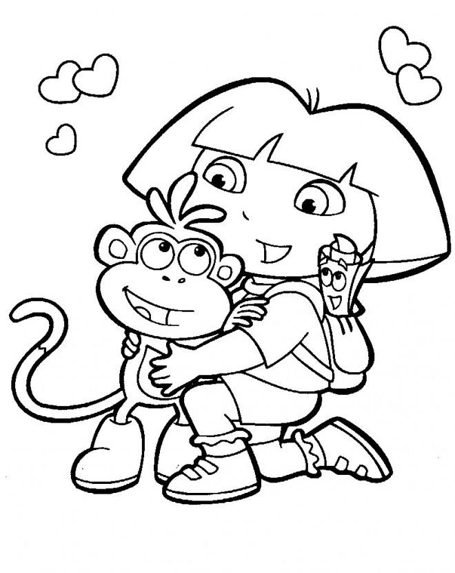 Coloriage Dessin De Dora Dessin Gratuit À Imprimer tout Coloriage Kangourou A Imprimer Gratuit