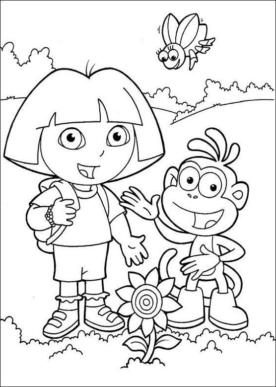 Coloriage Dessin Dora À Télécharger Gratuitement destiné Dessin A Colorier Dora Gratuit A Imprimer