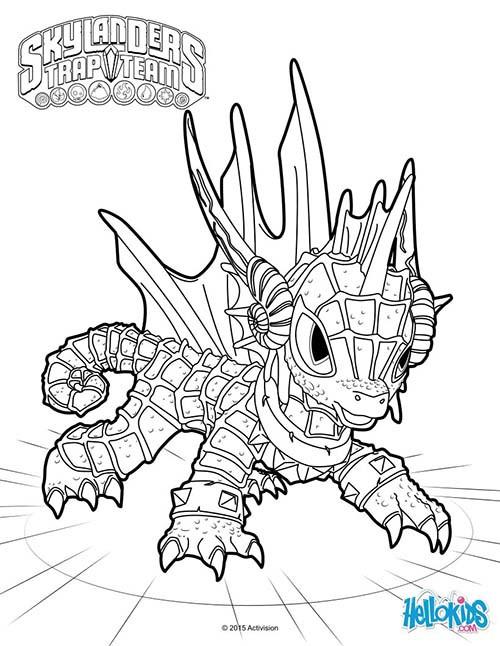 Coloriage Dessin Skylanders Dragon Facile Dessin Gratuit À destiné Coloriage Skylanders Trap Team A Imprimer Gratuit