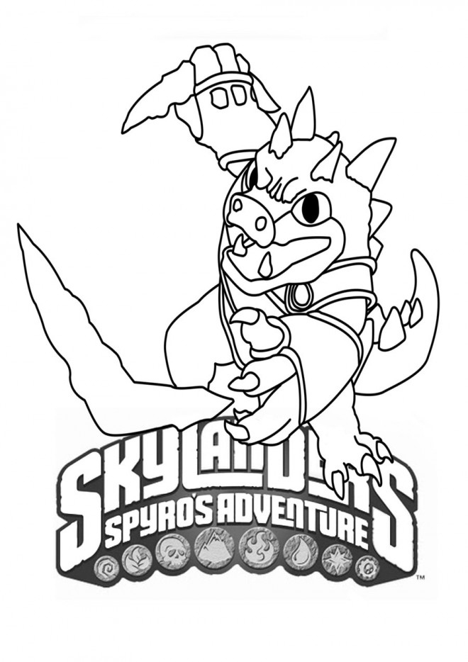 Coloriage Dessin Skylanders Facile Dessin Gratuit À Imprimer tout Coloriage Skylanders Trap Team A Imprimer Gratuit