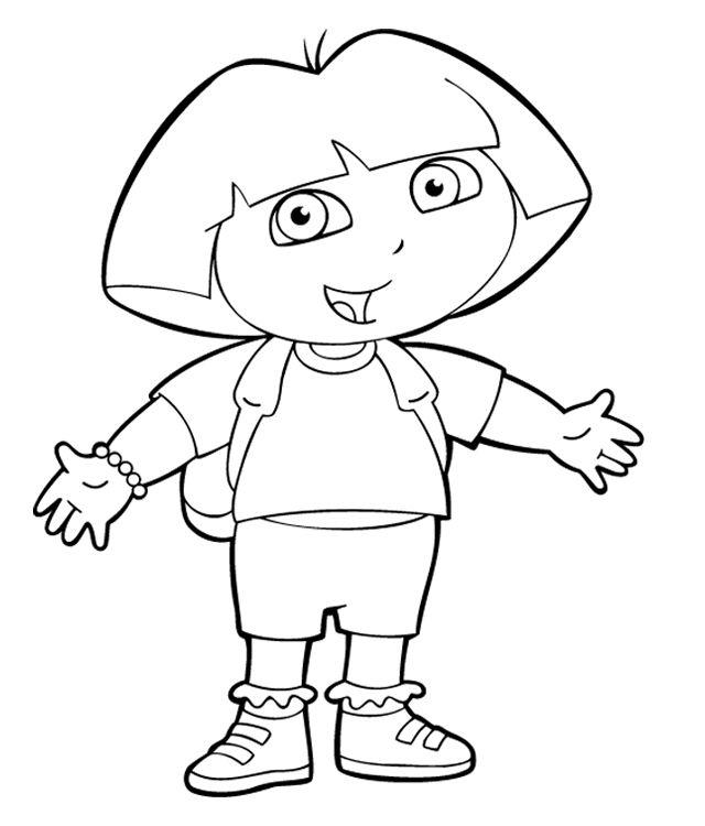 Coloriage Dessins. Dora L'Exploratrice 4 | Coloriage concernant Coloriage De Dora En Ligne