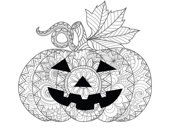 Coloriage D'Halloween : La Citrouille Mandala dedans Dessin Citrouille A Imprimer