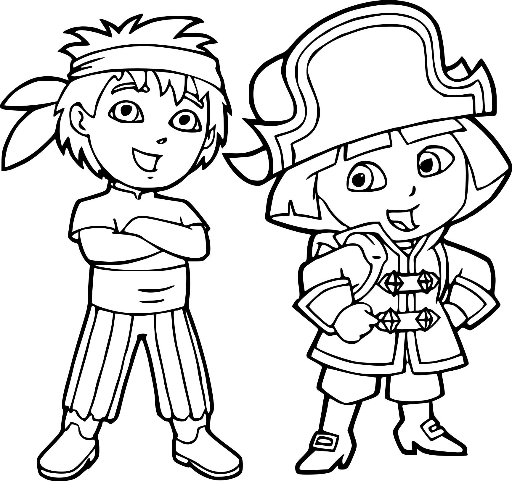 Coloriage Diego Et Dora À Imprimer Sur Coloriages dedans Coloriage Dora À Imprimer