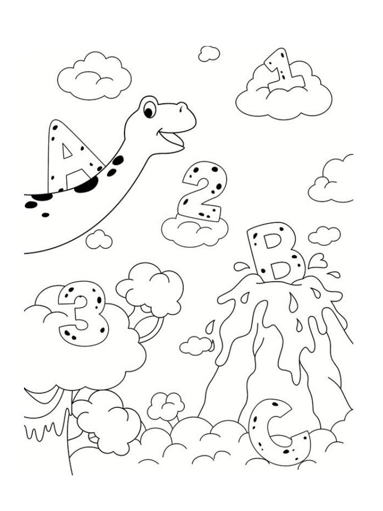 Coloriage Dinosaure : 20 Dessins À Imprimer pour Comment Dessiner Un Dinosaure