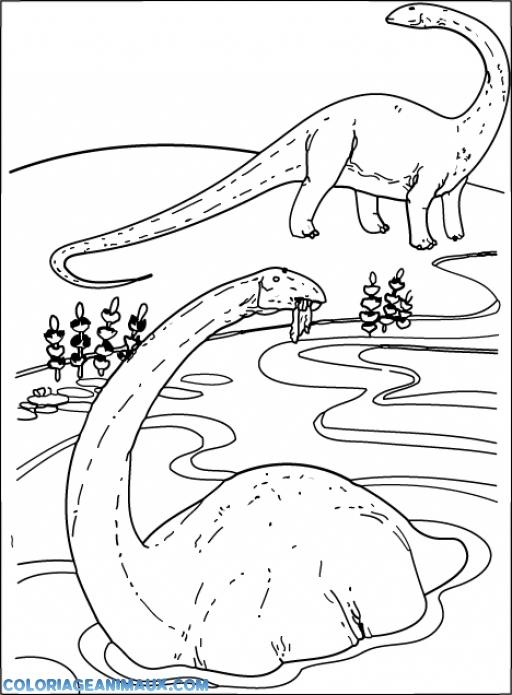 Coloriage Dinosaure Dans Leau avec Coloriage A L Eau