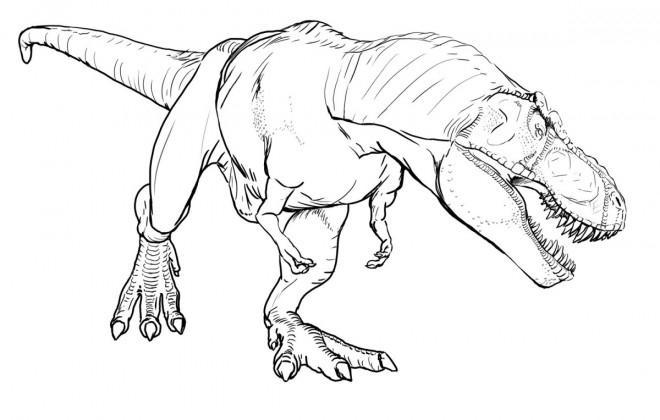 Coloriage Dinosaure Qui Fait Peur Dessin Gratuit À Imprimer intérieur Coloriage Dinosaure À Imprimer Gratuit