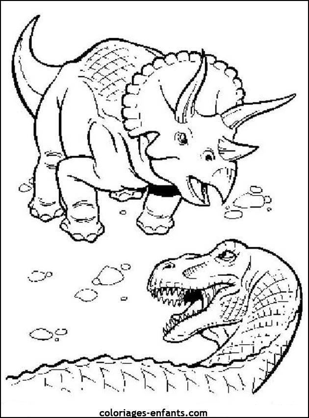 Coloriage Dinosaure Qui Fait Peur intérieur Coloriage Dinosaure À Imprimer Gratuit