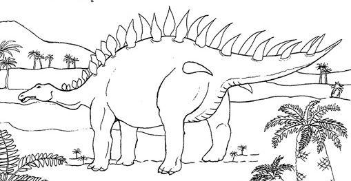 Coloriage Dinosaure Stégosaure serapportantà Coloriage Dinosaure Tyrannosaure