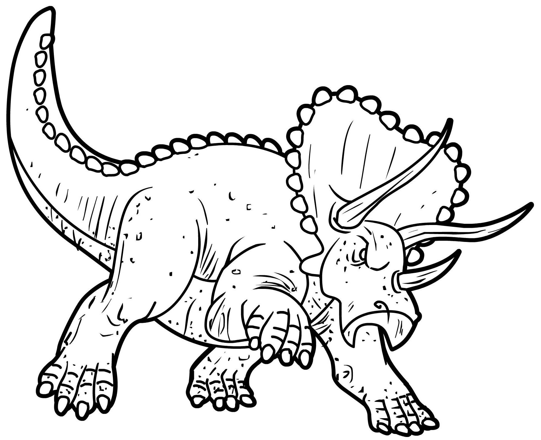 Coloriage Dinosaure Triceratops - 1001 Animaux serapportantà Dessin À Colorier Dinosaure