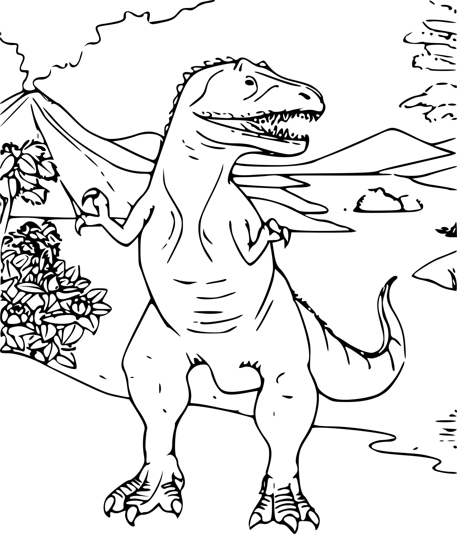 Coloriage Dinosaure Tyrannosaure À Imprimer Sur Coloriages concernant Coloriage Dinosaure